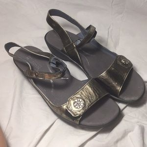 Gently worn Naot ankle small platform wedge sandal